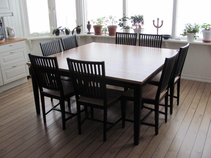 Kvadratiskt Matbord För 8 Personer U2013 Familjens Vattenförfaranden